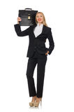 The woman businesswoman with briefcase isolated on Stock Photos