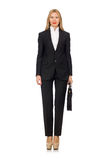 The woman businesswoman with briefcase isolated on Stock Images