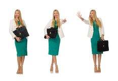 The woman businesswoman in business concept Stock Image