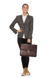 Woman businesswoman in business concept Stock Image