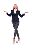 Woman businesswoman in business concept isolated Stock Photo