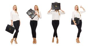 The woman businesswoman in business concept Royalty Free Stock Images