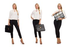 The woman businesswoman in business concept Royalty Free Stock Photos