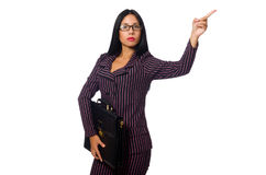 The woman businesswoman concept isolated white background Stock Photography