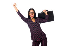 The woman businesswoman concept isolated white background Royalty Free Stock Image