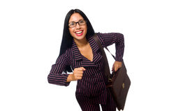 The woman businesswoman concept isolated white background Royalty Free Stock Images
