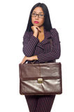 The woman businesswoman concept isolated white background Royalty Free Stock Photos
