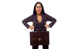 The woman businesswoman concept isolated white background Stock Images