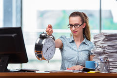 The woman businesswoman failing to meet her deadlines Royalty Free Stock Photo