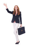 Woman businesswoman isolated Stock Photography