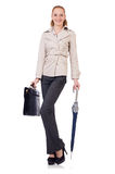 Woman businesswoman isolated Stock Photo