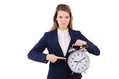 Woman businesswoman isolated Stock Image