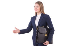 Woman businesswoman isolated Stock Photos