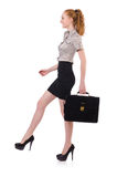 Woman businesswoman isolated royalty free stock photo