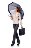 Woman businesswoman isolated Stock Images
