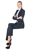 Woman businesswoman sitting Stock Photo