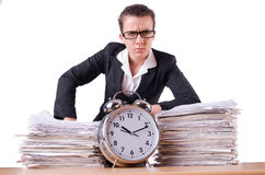 Woman businesswoman under stress missing Royalty Free Stock Images