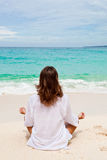 Woman buttocks on  beach Stock Photo