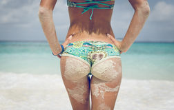 Woman buttocks Stock Images