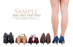 Woman buy shoes concept Stock Photo