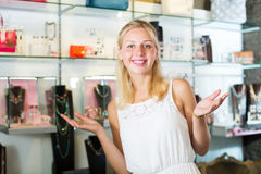 Woman buying accessorizes Stock Photo