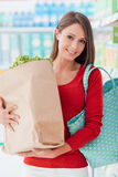 Woman buying fresh vegetables Royalty Free Stock Photos