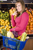 Woman buying healthy food Royalty Free Stock Photography
