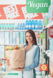 Woman buying healthy food Royalty Free Stock Photos