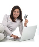 Woman buying online Royalty Free Stock Image