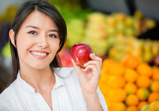 Woman buying organic Royalty Free Stock Photo