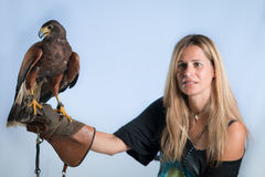Woman and buzzard Stock Image