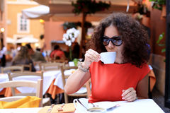 Woman in cafe Royalty Free Stock Photo