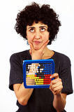 Woman calculates with Abacus Stock Photography