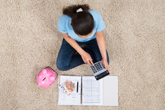 Woman Calculating Budget Royalty Free Stock Image