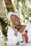 Woman On Call Stock Images