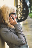 Woman in a call Royalty Free Stock Photo