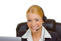 Woman in call center Stock Photos