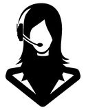 Woman call center icon Stock Images