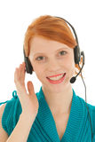Woman at call center Royalty Free Stock Images
