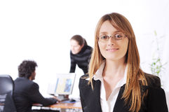 Woman and call centre Royalty Free Stock Photography