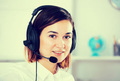 Woman in call-centre Stock Image