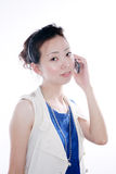 Woman call on mobile phone Royalty Free Stock Image