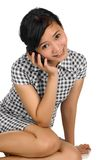 Woman Call By Phone Stock Photography