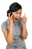 Woman Call By Phone Royalty Free Stock Photo