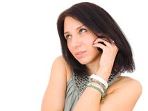 Woman call phone Stock Photography