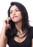 Woman call phone. Image of business woman call her mobile phone for business Stock Images