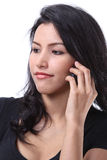 Woman call phone. Closeup image of business woman call her mobile phone Royalty Free Stock Photography