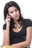 Woman call phone Royalty Free Stock Photography