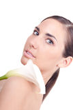Woman and calla Royalty Free Stock Image