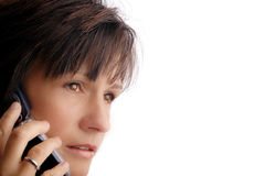 Woman caller Stock Photography